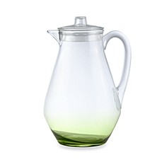 Apollo Acylic Pitcher with Green Tinted Base