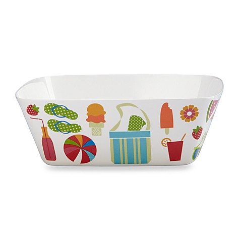 Summertime Melamine 10 3/5-Inch Serving Bowl