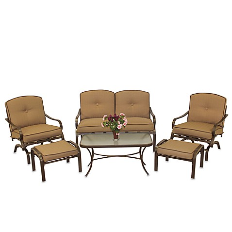 6-Piece Deep Seating Set - Brown