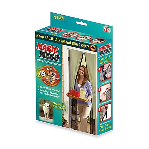 Buy Magic Mesh 174 Instant Magnetic Screen Door From Bed Bath