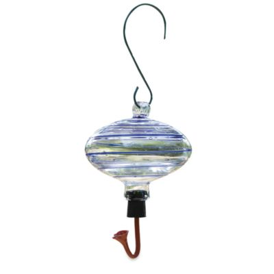 Gardman Blue Swirl Oval Glass Hummingbird Feeder
