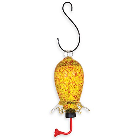 Gardman Yellow & Red Glass Cylinder Hummingbird Feeder