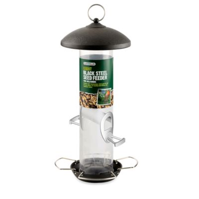 Gardman Giant Black Steel Seed Feeder in 12-Inch H