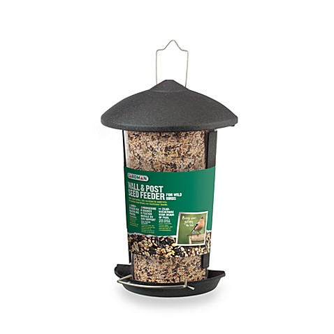 Gardman Wall & Post 10-Inch Black Steel Seed Feeder