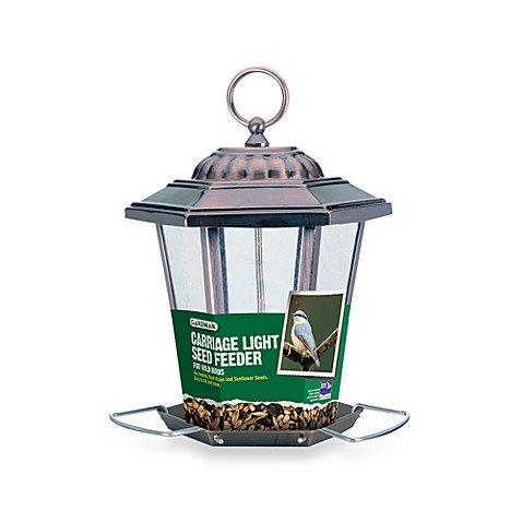 Gardman Metal Carriage Light Seed Feeder in Antique Copper