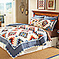 World Traveler Kusadasi European Sham in Blue/Multi
