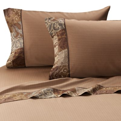 Croscill® Galleria King Sheet Set in Chocolate