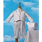 Haddad Brothers Boy's White Satin Christening Outfit with Hat and Tie