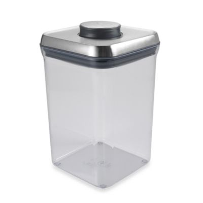 OXO SteeL® 4-Quart POP Square Food Storage Container