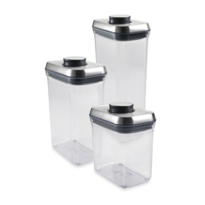 OXO SteeL® POP 2.5-Quart Rectangular Food Storage Container
