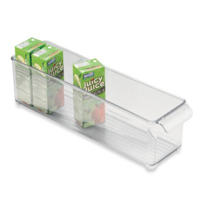 InterDesign® Fridge Binz™ 4-Inch x 15-Inch Stackable Clear Plastic Bin