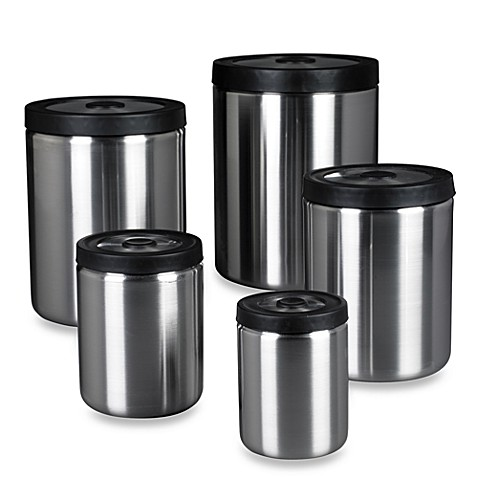 OXO SteeL® 5-Piece PressTop Canister Set