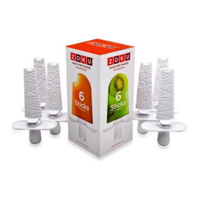 Zoku® Quick Pop™ Sticks with Drip Guards (Set of 6)