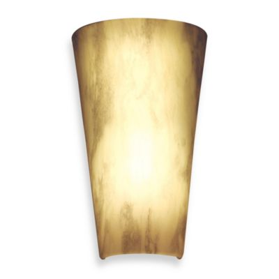 It's Exciting™ Battery Powered LED Stone Finish Wall Sconce