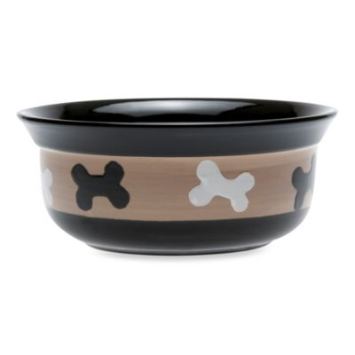 PetRageous® City Pets Stoneware 6-Inch 2-Cup Pet Bowl