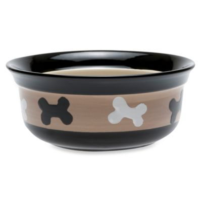 PetRageous® City Pets Stoneware 8-Inch 4-Cup Pet Bowl