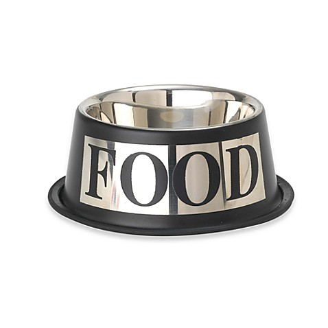 PetRageous® Antigua Stainless Steel Inverted FOOD Bowl