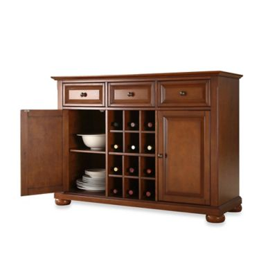 Crosley Alexandria Buffet Server/Sideboard Cabinet in Black