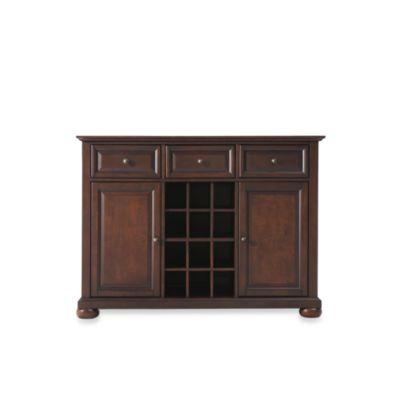 Crosley Alexandria Buffet Server/Sideboard Cabinet in Vintage Mahogany