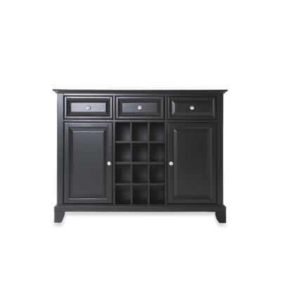 Crosley Newport Buffet Server/Sideboard Cabinet in Black