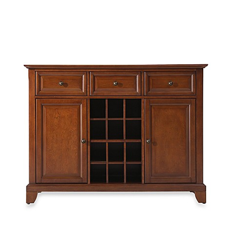 Crosley Newport Buffet Server/Sideboard Cabinet in Classic Cherry