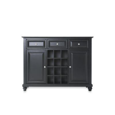 Crosley Cambridge Buffet Server/Sideboard Cabinet in Black