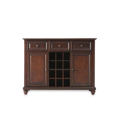 Crosley Cambridge Buffet Server/Sideboard Cabinet in Vintage Mahogany