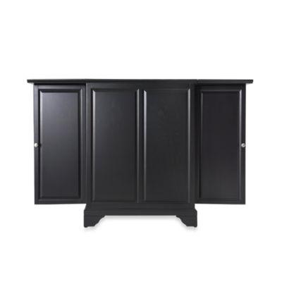 Crosley LaFayette Expandable Bar Cabinet in Black