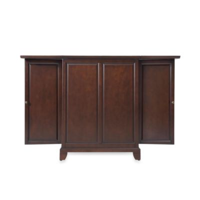 Crosley Newport Expandable Bar Cabinet in Black