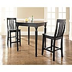 Crosley Turned Leg Pub Set with School House Style Stools (3-Piece Set)