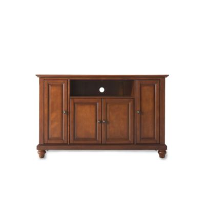 "Crosley Cambridge 48"" TV Stand in Cherry"