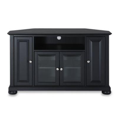"""Crosley Alexandria 48"""" Corner TV Stand in Black"""