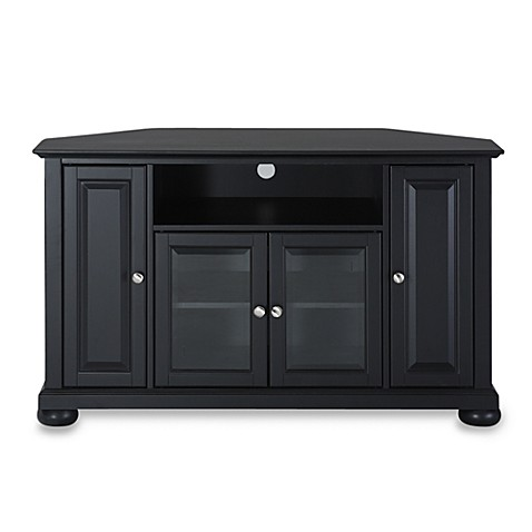 Buy Crosley Alexandria 48 Quot Corner Tv Stand In Black From Bed Bath Amp Beyond