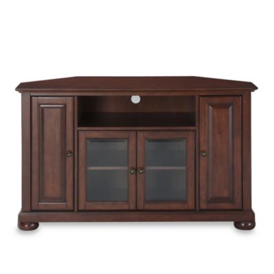 "Crosley Alexandria 48"" Corner TV Stand in Classic Cherry"