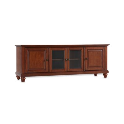 Crosley Cambridge 60-Inch Low Profile TV Stand in Mahogany