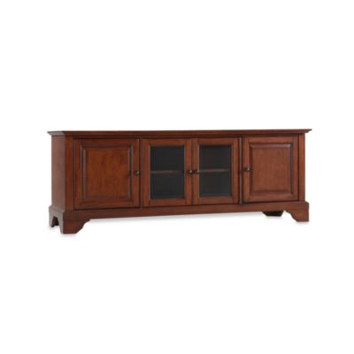 "Crosley LaFayette 60"" Low Profile TV Stand in Mahogany"
