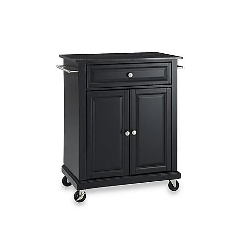 Buy Crosley Black Granite Top Rolling Portable Kitchen Cart Island In Black From Bed Bath Beyond