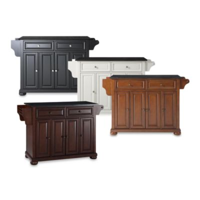 Alexandria Black Granite Top Kitchen Island