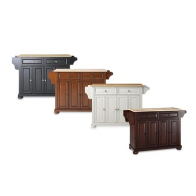 Alexandria Natural Wood Top Kitchen Island