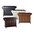 Kitchen Cart / Island with Solid Black Granite Top