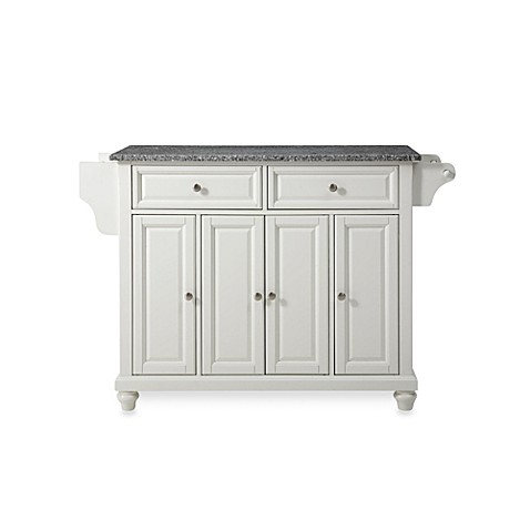 Crosley Cambridge Granite Top Kitchen Island in White
