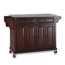 Crosley Rolling Kitchen Cart / Island with Solid Granite Top