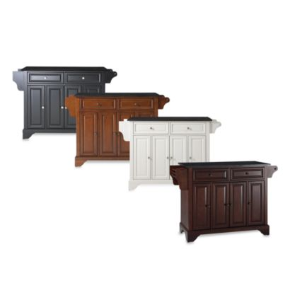 LaFayette Black Granite Top Kitchen Island