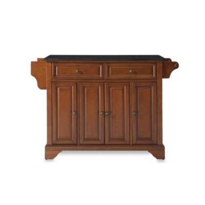 Crosley LaFayette Black Granite Top Kitchen Island in Cherry