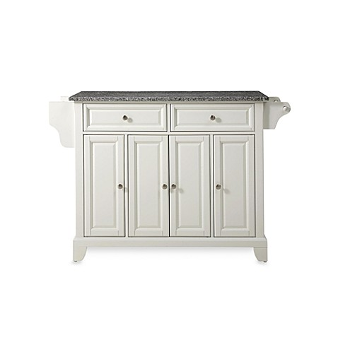 Crosley Newport Granite Top Kitchen Island in White