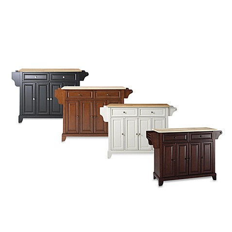 Newport Wood Top Kitchen Island