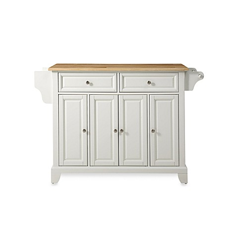 Crosley Newport Wood Top Kitchen Island