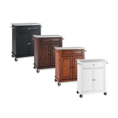 Crosley Stainless Top Portable Kitchen Cart/Island