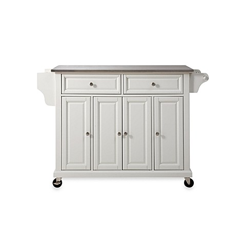 Crosley Rolling Kitchen Cart Island With Stainless Steel Top