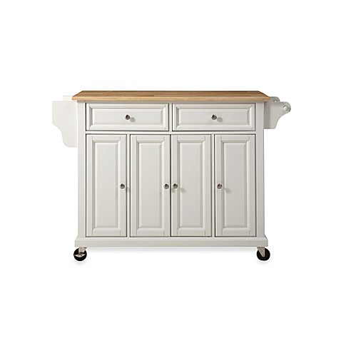Buy Crosley Natural Wood Top Rolling Kitchen Cart Island